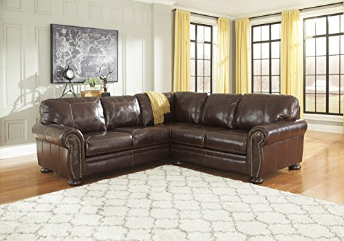 Review Banner Coffee Color Traditional Classics High-quality Leather Sectional Sofa By FurnitureMaxx by FurnitureMaxx : traditional leather sectional - Sectionals, Sofas & Couches