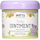 Maty's All Natural Baby Ointment, 10 oz, Petroleum-Free, Safe for Cloth Diapers, Natural Alternative to Petroleum Based Diaper Rash Creams, Safe For Sensitive Skin, Chemical & Fragrance Free
