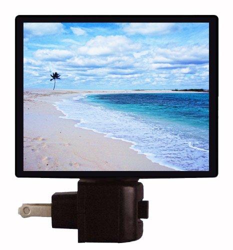 Flip Flop Night Light (Tropical Night Light - Paradise Island - Sandy Beach and Palm Tree LED NIGHT LIGHT)