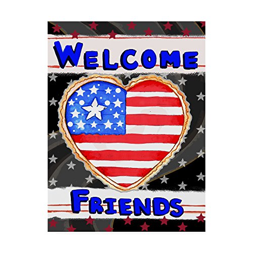 Trademark Fine Art Patriotic Heart Welcome by Valarie Wade