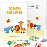 The Amazing Story Of Me Baby Memory Book By KiddosArt. Record Memories and Milestones Of The First 5 Years On 72 Beautifully Drawn Pages Starring Our Happy Animals. 12 Monthly Stickers Included.