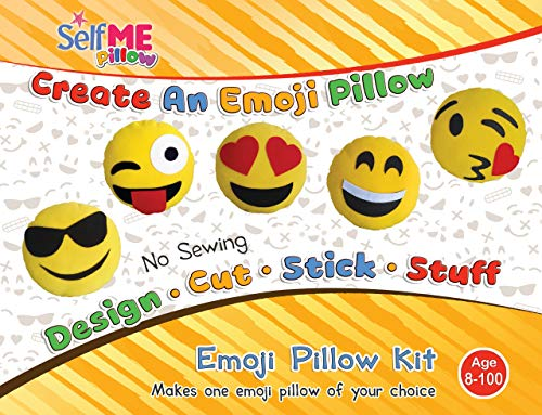 DADM Emoji Pillow Craft kit, for Girls & Boys, Kids and Adults , 32 cm, SelfMe Crafts kit. ()