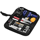 Professional Watch Repair Tool Kit Watchmaker Case Opener Link Remover Spring Bar Set W/ Carry Bag