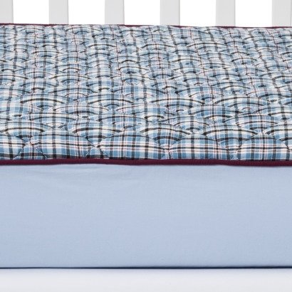 Plaids/Str Boys Quilted Top Crib Sheet