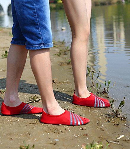 Couple Beach Red Unisex Fashion Lanbaosi Womens Socks Gym Casual Mens Shoes Yoga Water wFFA0T8q