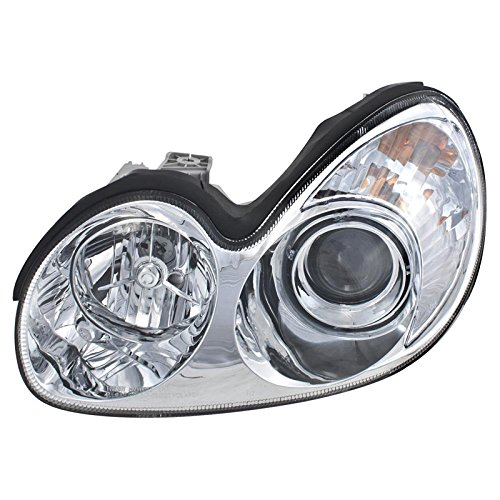 CarPartsDepot NEW DRIVER LEFT SIDE HEAD LIGHT LAMP ASSEMBLY FIT 02-05 HYUNDAI SONATA GL GLS LX