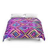 Society6 A Trip To India In Cerulean Blue And Violet Comforters Full: 79'' x 79''