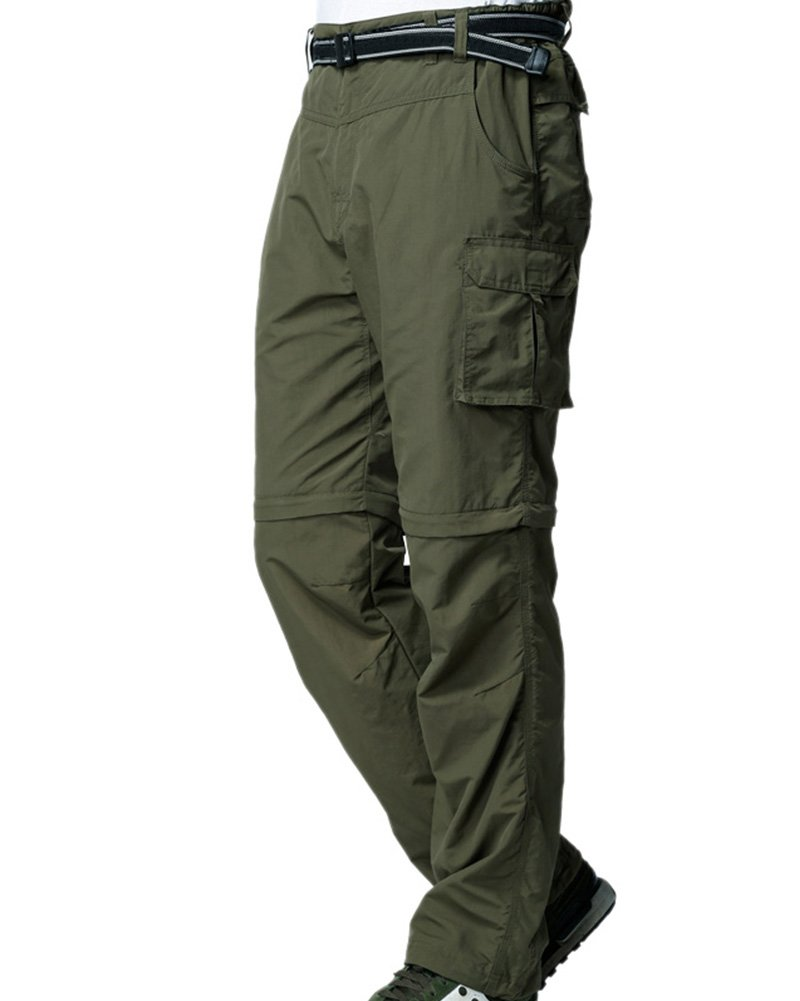 Men's Outdoor Anytime Quick Dry Convertible Lightweight Hiking Fishing Zip Off Cargo Work Pant M885 Army Green,40 by Toomett