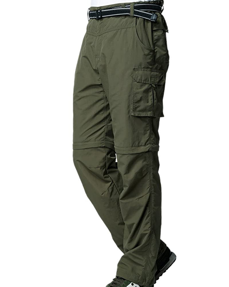 1472b53d37 Mens Hiking Pants Convertible Zip Off Fishing Travel Safari Quick Dry  Lightweight Trousers