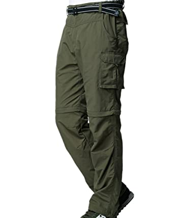 8d3faa15d1d784 Men's Outdoor Casual Anytime Quick Dry Convertible Lightweight Hiking  Fishing Zip Off Cargo Work Pant #