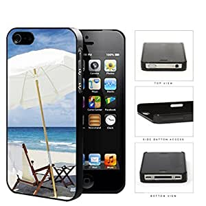 Beach Chair And Umbrella Hard Plastic Snap On Cell Phone Case Apple iPhone 4 4s