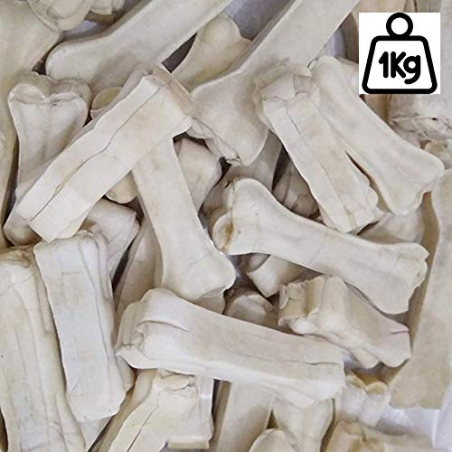 Petlicious & More Rawhide Bones 6 Inch Pressed Calcium Chew Bone for Puppy Dogs (Pack of 1 Kgs)