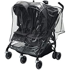 Let it rain. The Dana For2 Rain Shield helps protect your baby from rain without blocking the view.  It provides a customized fit to the Dana for2 stroller, covering it where needed, while leaving the stroller handles easily accessible for yo...