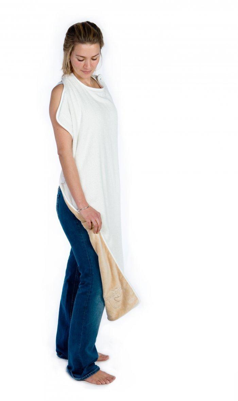 Cuddledry® Apron Bath Towel, in Oatmeal by Snuggledry