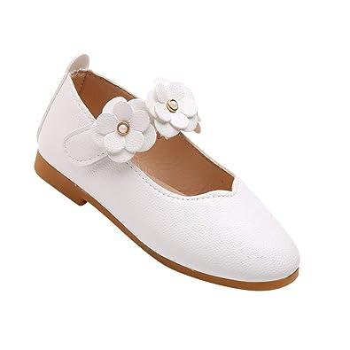 e8d1b5d3d0f6e Gtagain Filles Mary Jane Fleur des Chaussures - Plat Cuir Princesse Loisirs  Formel École Portant Confortable
