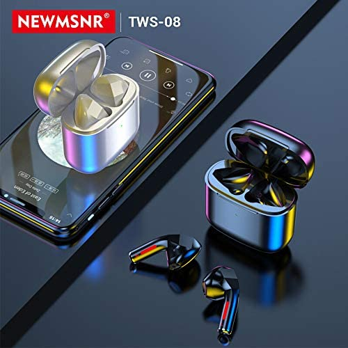 Bluetooth 5.1 True Wireless Earbuds with Charging Case Waterproof Earbuds Comfortable&Lightweigt TWS Stereo Headphones Earbuds Premium Sound with Deep Bass for Sport,Running (Black Love TWS-08)