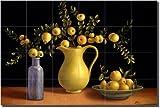 """""""Crab Apples"""" by Frances Poole - Ceramic Tile Mural 17"""" x 25.5"""" Kitchen Backsplash"""