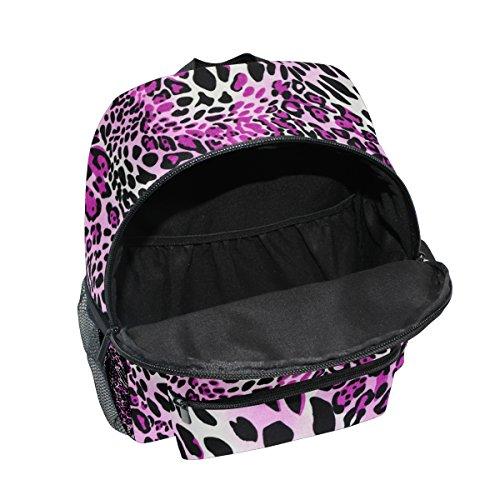 Bag Girls Purple Print 1 School Leopard Boy Kindergarten Pre Backpack Kids Mutli Toddler Animal for ZZKKO R8AgnqpwOq