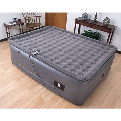 Amazon.com: Air Cloud Deluxe Raised Pillowtop Air Mattress - Queen ...