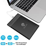 Stouchi MacBook Pro Power Bank, USB C 60W PD Portable Power Bank 20000mAh Portable Charger with PD USB-C and QC 3.0 USB Ports for MacBook Pro 15/13/12 inch,Dell XPS15,Nintendo Switch and Smartphones
