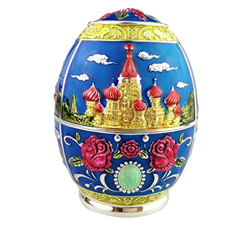 Quality Fashion Classic Handmade Auto Antomatic Toothpick Holder Royal Russian Style (Blue Castle ()