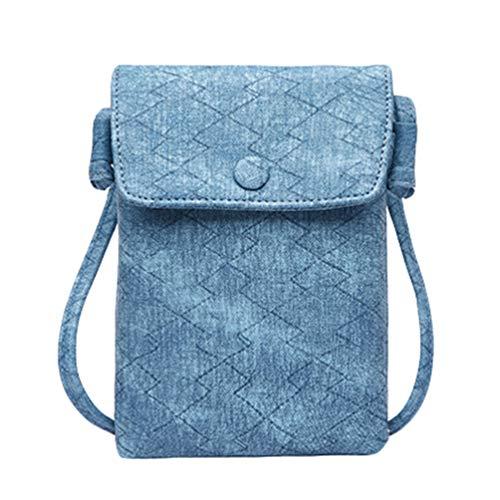 Portafoglio Mini a Blu Cuoio Kairuun Tracolla Bl Multifunzionale di del Telefono PU del Borsa Crossbody Borse Elaborazione PaqdaxOw