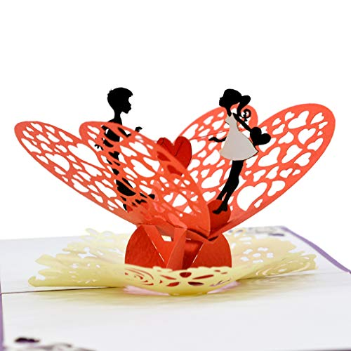Cutepopup the Loving couple with heart 3D pop up card for Wedding, Valentine best idea gift for Birthday, Mother Day, Father Day, Wedding anniversary or any occasion
