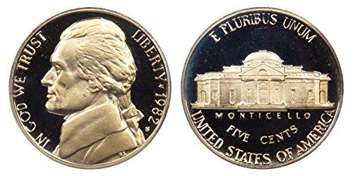 1982 S Proof Jefferson Nickel PF1