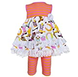 AnnLoren Baby Girls sz 18-24 mo Fancy Cowgirl Dress and Legging Outfit