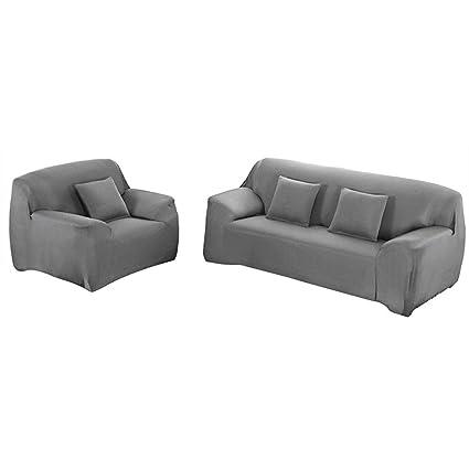 Yeahmart - Funda elástica para sofá (1 2 3 4 plazas), Gris ...