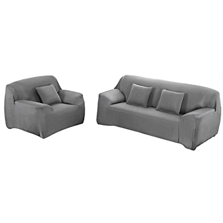 Surprising Yeahmart Stretch Sofa Covers Fabric Slipcover Protector 1 2 3 4 Seater Couch Slipcover Machost Co Dining Chair Design Ideas Machostcouk