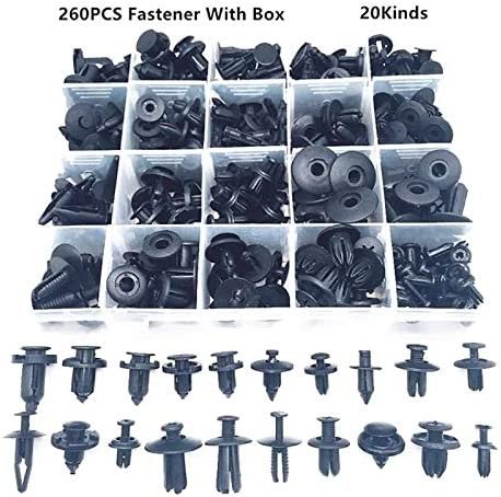 LIWENCUI-MD, 260PCS Universal Mixed Car Bumper Fender Screw Plastic Fastener Clip With Box Set For All Auto Rivet (Color Name : 180pcs set 1) 120pcs set 5