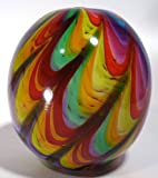 Bright Rainbow Cane Round Bowl/Vase