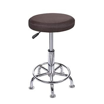 Amazon Com Lominc 14 Round Bar Stool Cover Breathable Fabric To