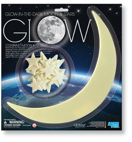 Adorox Glow in The Dark Moon and Stars Childs Room Decorative Art Room Decor Toy