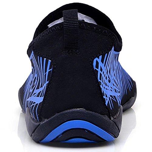 HOBIBEAR Männer Aqua Wasser Schuhe Schnell Trocknende Rutschfeste Multifunktionale Für Strand Pool Surf Rock Rafting Blau