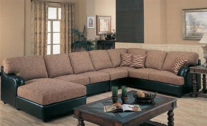 Brilliant Amazon Com Sectional Sofa Couch Multi Color Weaved Chenille Evergreenethics Interior Chair Design Evergreenethicsorg
