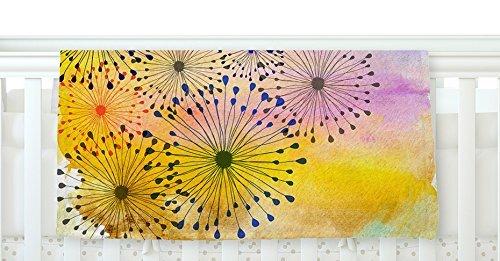 KESS InHouse Sreetama Ray Bursting Blossoms Yellow Purple Fleece Baby Blanket 40 x 30 [並行輸入品]   B077ZSZWVS