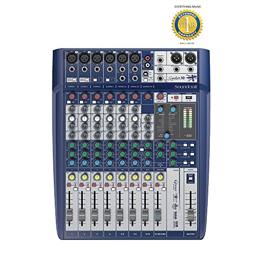 Soundcraft Signature 10 10-Input Mixer with Microfiber and Free EverythingMusic 1 Year Extended Warranty