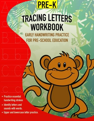 Download Tracing Letters Workbook - Early Handwriting Practice - For Pre-School Education: Pre-school and kindergarten handwriting practice pages with uppercase and lowercase tracing practice lines. pdf epub