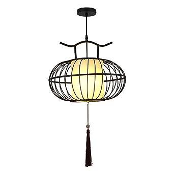 Nueva lámpara de jaula de hierro forjado de estilo chino Lámpara ...