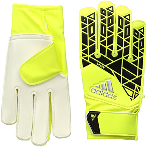 adidas Performance ACE Junior Goalie Gloves, Solar Yellow/Black, Size 4