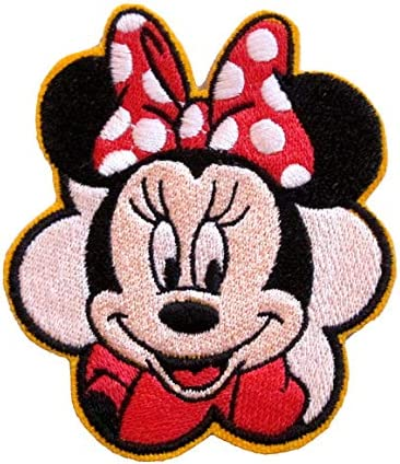 Minnie Mouse Red Bow embroidered Iron On Sew On Patch//Applique
