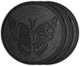 HF by LT Rubber Tree Garden Stepping Stone, 11-3/4', Black, Set of 3