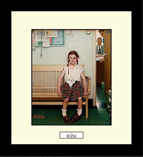 (Norman Rockwell SHINER Framed Girl Fighting Black Eye Wall Hanging Art Gift )