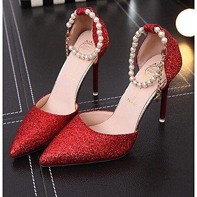 Silver ggx Pu Mujer Primavera Tacones 10 Tacón Confort Informal Rojo Stiletto Plata 12 Cms Lvyuan Dorado dwZH4d