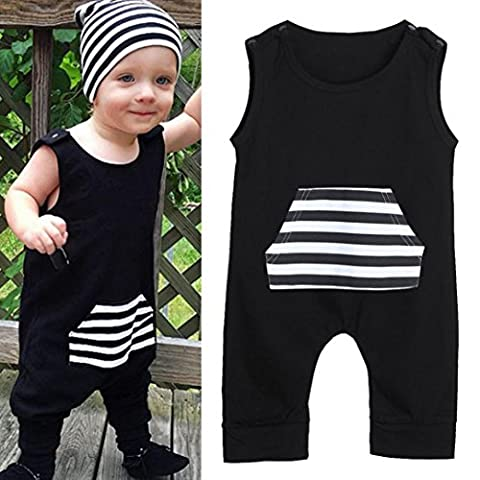 TAORE Newborn Infant Baby Kids Boys Sleeveless Stripe Romper Jumpsuit Outfits Clothes (18-24M, - Loose Forms Pack