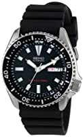 Seiko Men's SKX173 Stainless Steel and Black Polyurethane Automatic Dive Watch by Seiko