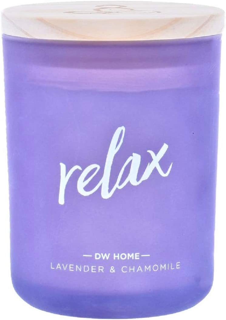 DW Home Relax Zen Series Richly Scented Candle Lavender + Chamomile in Large Jar with Lid