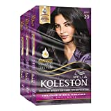 Wella Koleston Coloracion Permanente en Crema, color 20 Negro, 3 Piezas